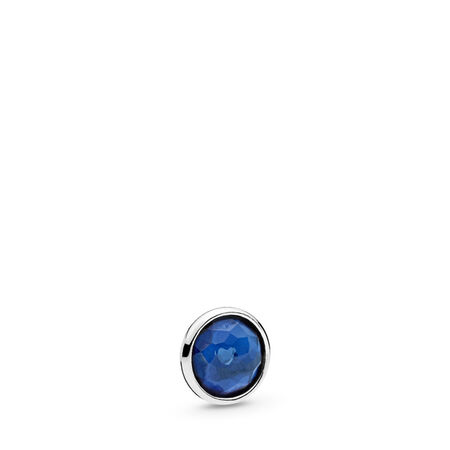 September Droplet Petite, Synthetic Sapphire, Sterling silver, Synthetic sapphire - PANDORA - #792175SSA