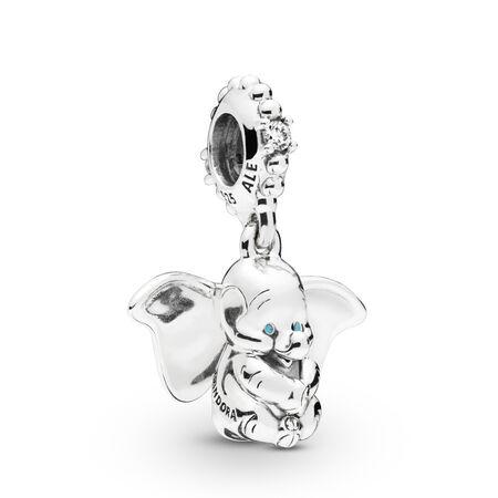 Disney, charm-pendentif Dumbo, Argent sterling, émail, Aucune couleur, Zircon cubique - PANDORA - #797849CZ