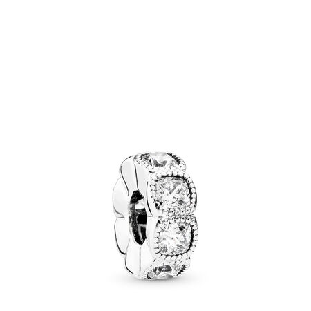 Alluring Cushion, Clear CZ, Sterling silver, Cubic Zirconia - PANDORA - #792027CZ