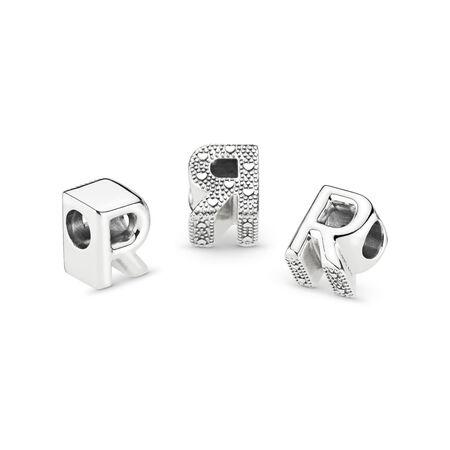 Letter R Charm, Sterling silver - PANDORA - #797472