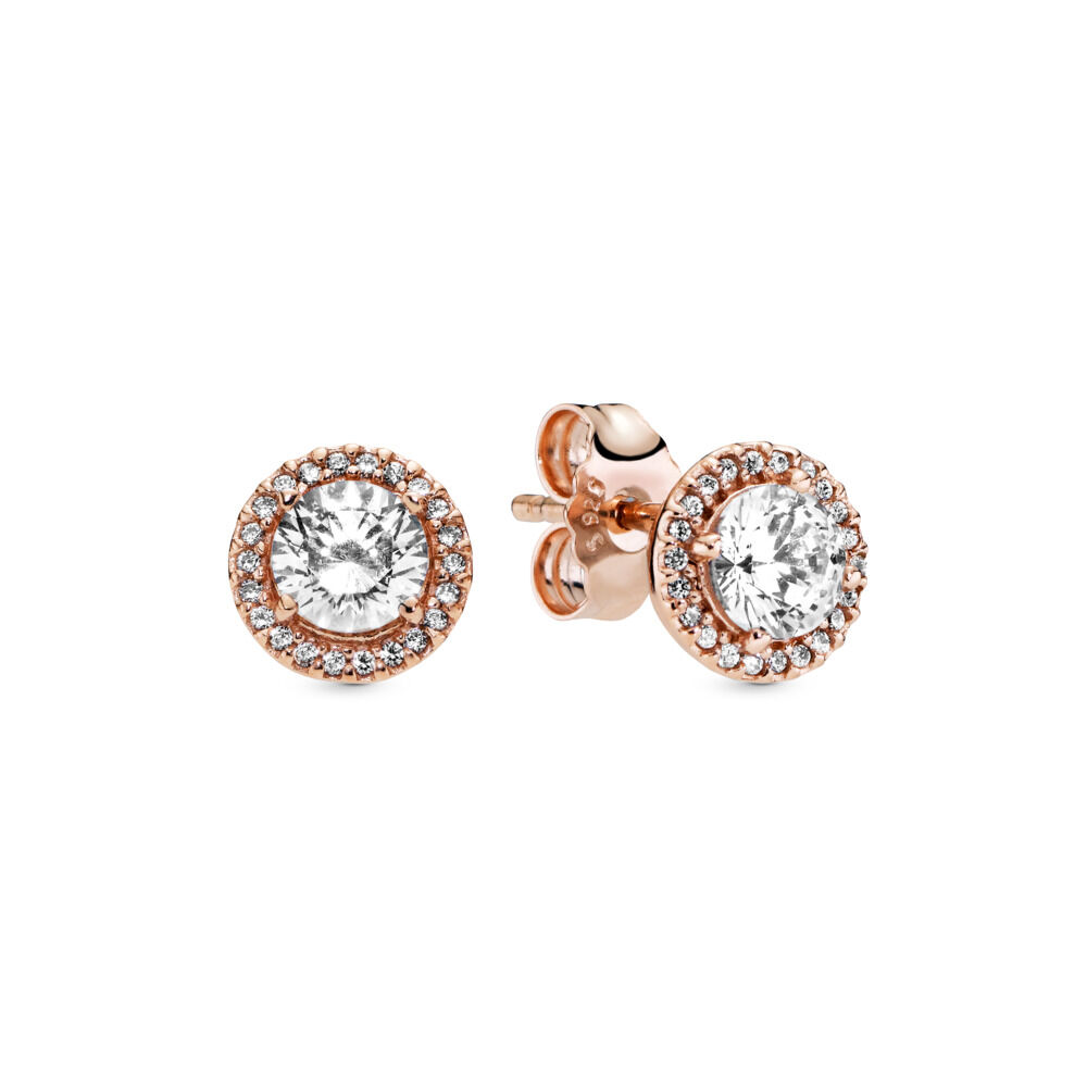 972bf0f8d Clic Elegance Stud Earrings In Pandora Rose Clear Cz