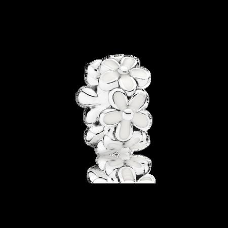 Champ de charmantes marguerites, émail blanc