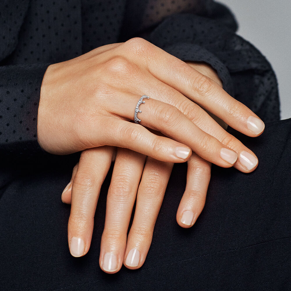 Enchanted Crown Ring Clear Cz Pandora Jewellery Online