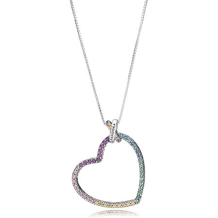 Limited Edition Multi-coloured Heart Necklace