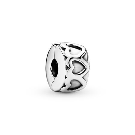 Row of Hearts, Sterling silver - PANDORA - #791978