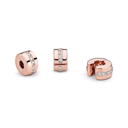 Sparkling Row Spacer Charm, PANDORA Rose, Cubic Zirconia - PANDORA - #781972CZ