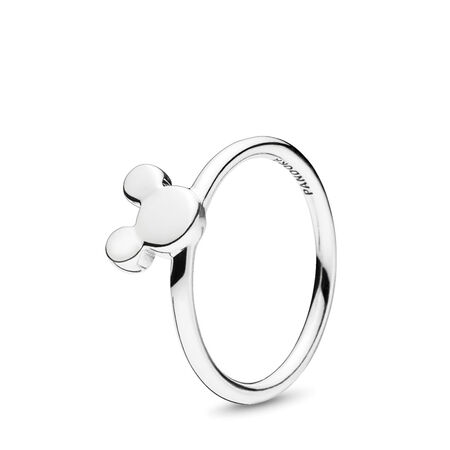 Disney, Mickey Silhouette Ring, Sterling silver - PANDORA - #197508