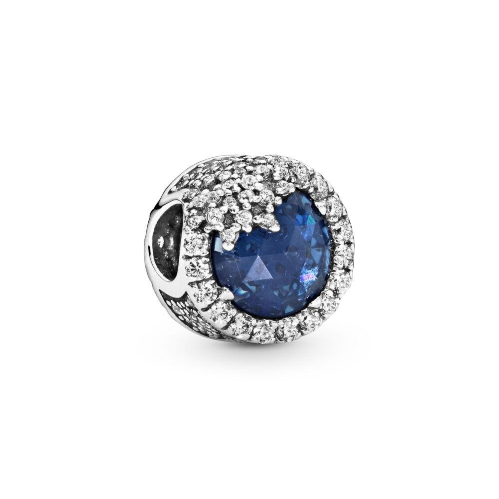 5a110c286 Dazzling Snowflake Charm, Twilight Blue Crystals & Clear CZ