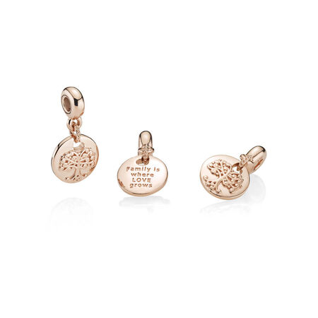 In My Heart ESSENCE Dangle Charm, PANDORA Rose™ & Clear CZ