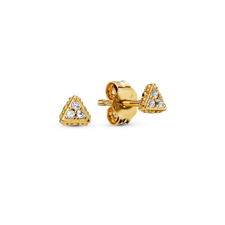 Sparkling Triangles Stud Earrings