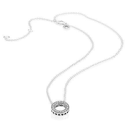 Hearts of PANDORA Necklace, Clear CZ