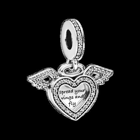 Breloque Cœur et ailes d'ange