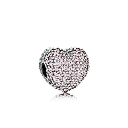 Pavé Open My Heart, Clear CZ