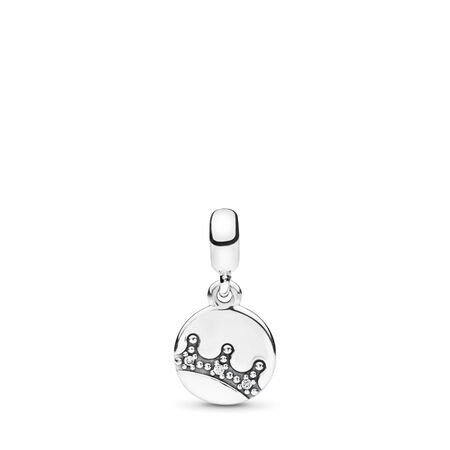 Dazzling Crown ESSENCE Dangle Charm, Clear CZ