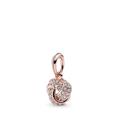 Destin entrelacé, Rose, cz incolore, PANDORA ROSE, Aucun autre matériel, Aucune couleur, Zircon cubique - PANDORA - #380385CZ