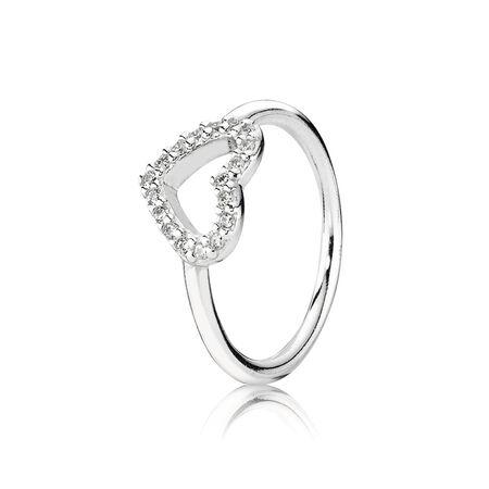 Be My Valentine, Clear CZ, Sterling silver, Cubic Zirconia - PANDORA - #190861CZ