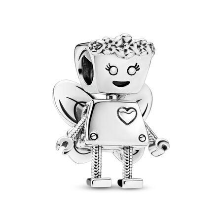 Charm Bella Bot florale en édition limitée, Argent sterling, Aucun autre matériel, Aucune couleur, Aucune pierre - PANDORA - #797856
