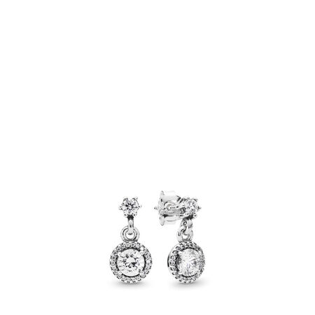 Classic Elegance, Clear CZ, Sterling silver, Cubic Zirconia - PANDORA - #290594CZ