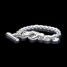 Knotted Heart T-Bar Bracelet