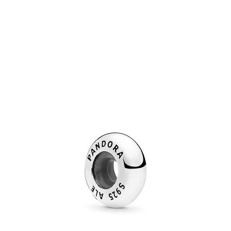 Butoir de bracelet rigide ouvert Éclat d'élégance, Argent sterling, Silicone, Aucune couleur, Aucune pierre - PANDORA - #796482