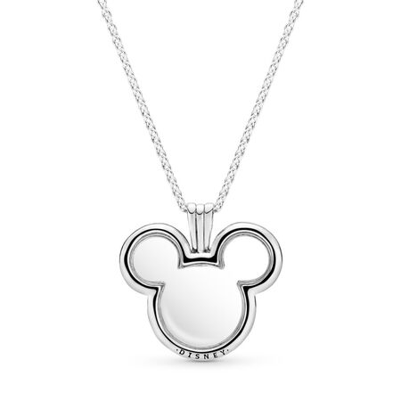 PANDORA Floating Mickey Mouse Locket, Clear CZ