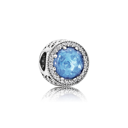 Radiant Hearts, Sky-Blue Crystal & Clear CZ