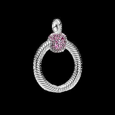 Pandora Moments Small Pink Pavé O Pendant - FINAL SALE