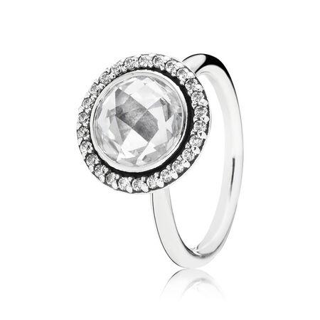 Brilliant Legacy Ring, Clear CZ, Sterling silver, Cubic Zirconia - PANDORA - #190904CZ