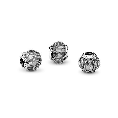 Intertwining Radiance, Clear CZ, Sterling silver, Cubic Zirconia - PANDORA - #791968CZ