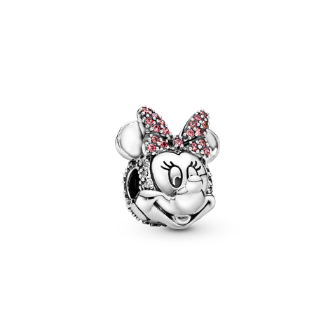 Clip Nœud en pavé rose Minnie Mouse de Disney