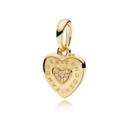 Pandora Signature Heart Pendant Pandora Shine Amp Clear Cz
