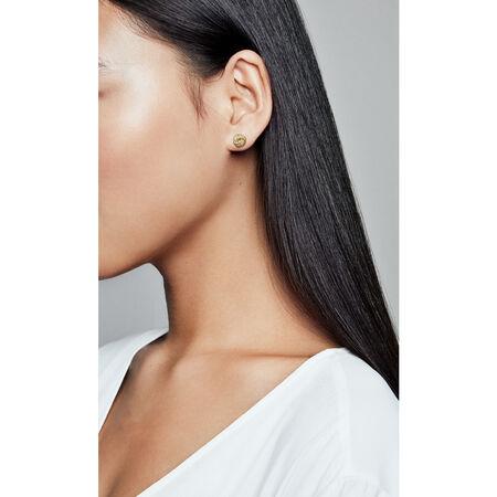 Sparkling Love Knots Stud Earrings