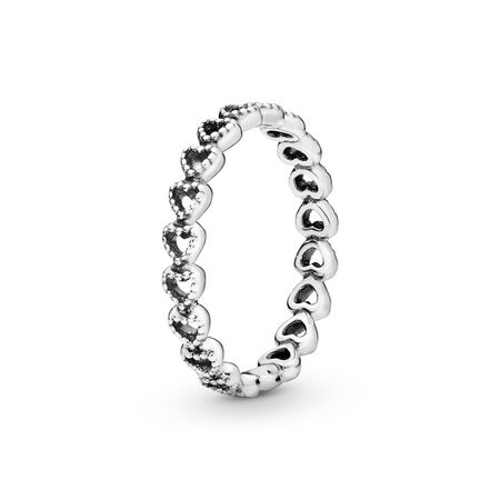 Band of Hearts Ring, Sterling silver - PANDORA - #190980