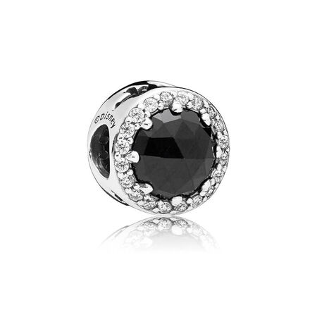 Disney, Evil Queen's Black Magic Charm, Black Crystals & Clear CZ