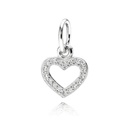 Valentine, cz incolore, Argent sterling, Aucun autre matériel, Aucune couleur, Zircon cubique - PANDORA - #390325CZ
