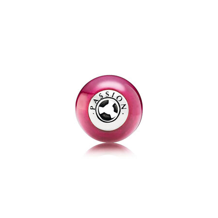 PASSION, Synthetic Ruby, Sterling silver, Silicone, Pink, Synthetic Ruby - PANDORA - #796007SRU
