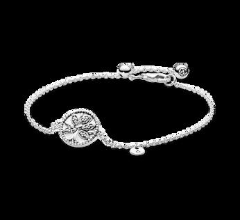 Sparkling Family Tree Slider Bracelet