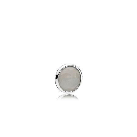 Mini gouttelette de juin, pierre de lune grise