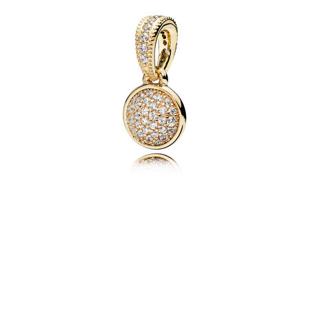 Dazzling Droplet, 14K Gold & Clear CZ