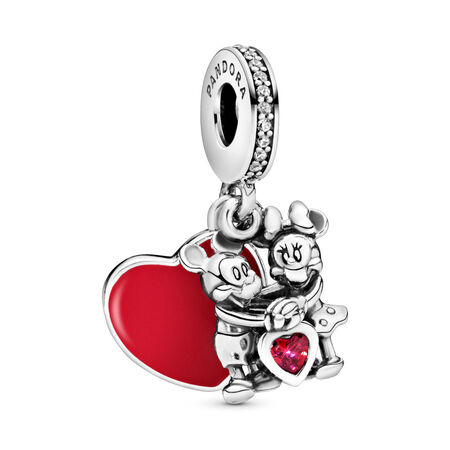 Disney, Minnie & Mickey With Love Dangle Charm