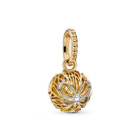 Pendentif Papillons ajourés en édition limitée, PANDORA Shine and sterling silver, Aucun autre matériel, Aucune couleur, Aucune pierre - PANDORA - #367896