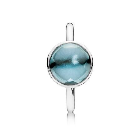 Poème d'amour, cristal bleu marine, Argent sterling, Aucun autre matériel, Bleu, Cristal - PANDORA - #190982NAB