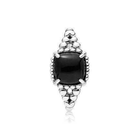 Bague Esprit vivant, cristal noir