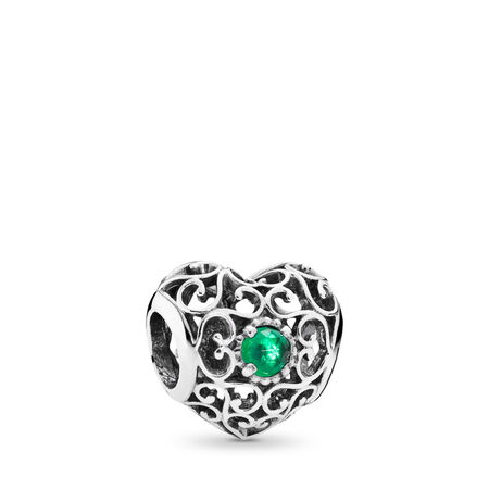 Cœur de fête, mai, cristal vert royal
