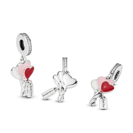 Heart Balloons Birthday Dangle Charm