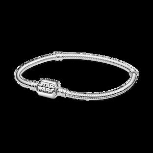 Bracelet à fermoir à chaîne serpentine et à étoile Star Wars PandoraMoments