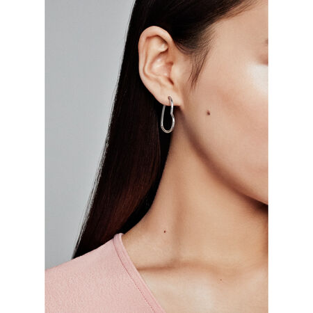 Asymmetric Hearts of Love Hoop Earrings