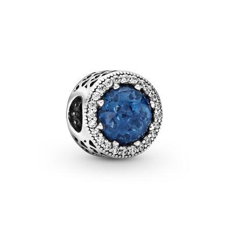 Cœurs radieux, cristal bleu lunaire et CZ incolore