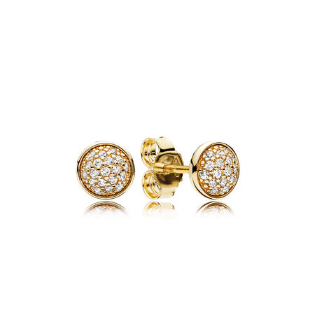 Dazzling Droplets, 14K Gold & Clear CZ