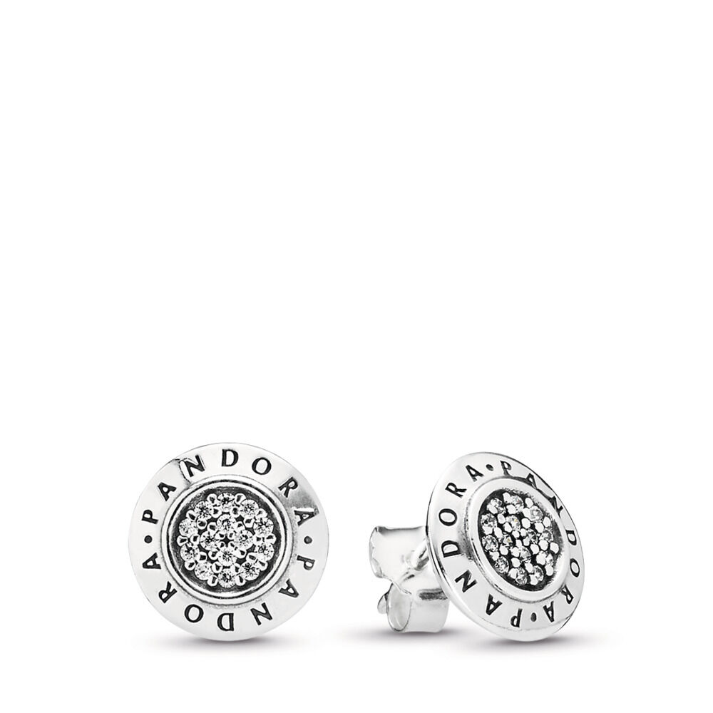 7519f8163 PANDORA Signature Stud Earrings, Clear CZ